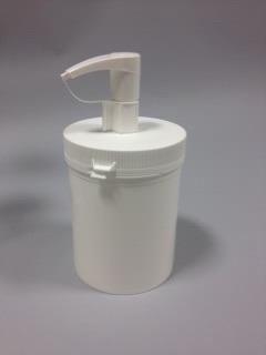 Bøtte til låg med dispenser 655ml / 75mm / hvid
