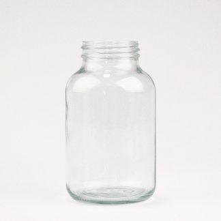 Pulverglas 1 l. klar /68 mm hals