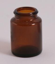 Tabletglas 20 ml brun / 27 mm