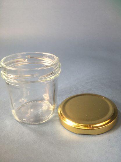 Fødevareglas 120ml / klar / 63mm