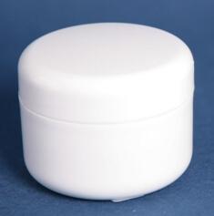 Cremekrukke 50 ml hvid