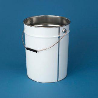 Blikspand 20 l. UN hvid/blank/285 mm