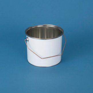 Blikspand 3 l. hvid/blank/180 mm