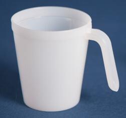 Målebæger 100 ml naturel m/hank