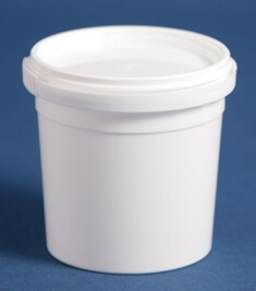 Bæger 160 ml hvid ringlock/69mm