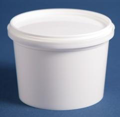Bæger 310 ml hvid ringlock/92 mm