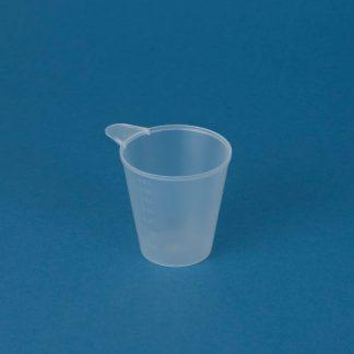 Målebæger 200 ml naturel m/hank