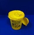 Kanyleaffaldsboks 1,5 L m/gult låg