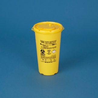 Kanyle bøtte 1L med gult låg