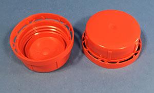 Vulstkapsel 43 mm rød m/låsering