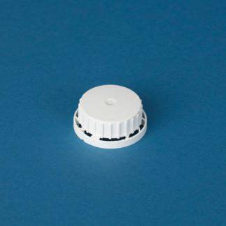 Kapsel 40 mm hvid m./lås og indlæg