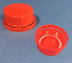 Vulstkap. 43mm rød m/lås & pak.