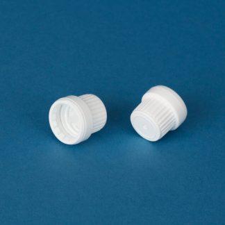 Kapsel 18 mm hvid m/forsgel.& 2 mm
