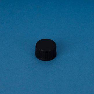 Kapsel 18 mm sort m/skumindlæg