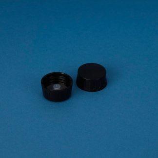 Kapsel 28 mm sort m/plastkonus