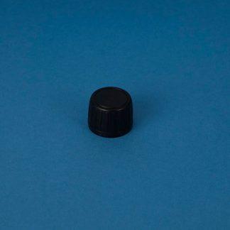 Kapsel 28 mm sort m/saranex-liner