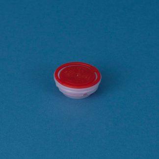 Kapsel til Blikdunk  42mm rød