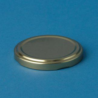 Twist-off låg 66 mm guld