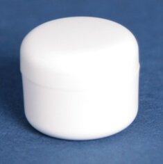 Kosmetikkrukke 5 ml hvid