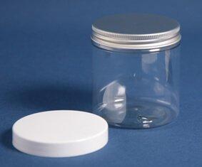 Dåse 250 ml klar u/skulder/70 mm/PET