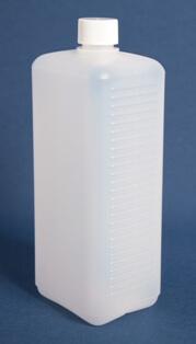 Flaske firkantede 1 l. nature/25 mm/HDPE
