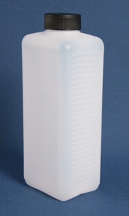 Flaske firkantede 1l. naturel/40 mm/HDPE