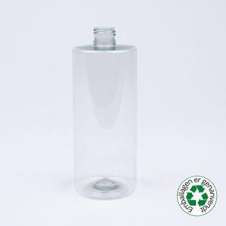 Flaske 500ml sharp cyl. 24mm 50% R-pet
