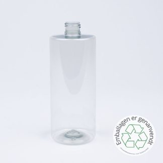 1. palle - Flaske 500ml sharp cyl. 24mm 50% R-pet