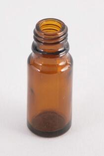 Dråbetællerflaske 10 ml brun/18 mm