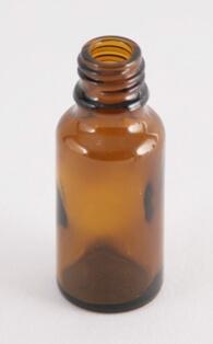 Dråbetællerflaske 20 ml brun/18 mm