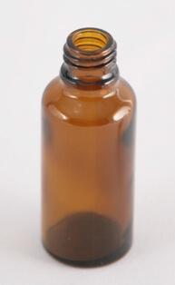 Dråbetællerflaske 30 ml brun/18 mm