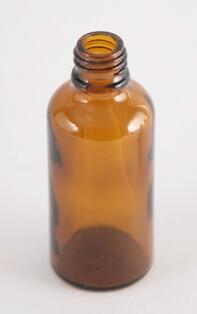 Dråbetællerflaske 50 ml brun/18mm