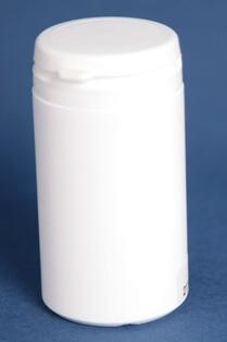 Tabletdåse 100 ml hvid/43 mm