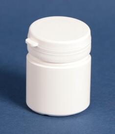 Tabletdåse 50 ml hvid / 43 mm