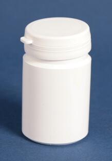 Tabletdåse 75 ml  hvid / 43 mm