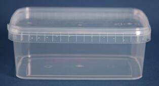 Bøtte 1,2 l. klar firkantet/129 mm