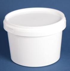 Bøtte 1150 ml hvid ringlock / 146 mm