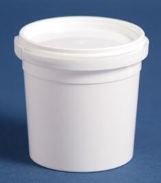 Bæger 160 ml hvid ringlock/69 mm
