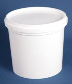 Bøtte 1550 ml hvid ringlock /146 mm
