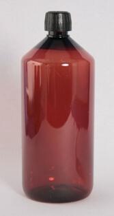 Flaske 1 l. brun /28 mm/ PET