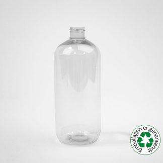 Flaske 500ml  Boston round klar 24mm R-Pet