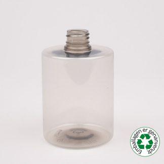 Flaske 500ml klar cylindrical 28/410 R-pet