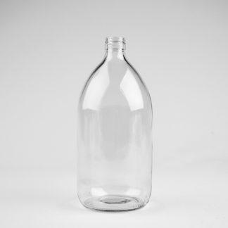 Glasflaske 1L klar sirup / 28mm