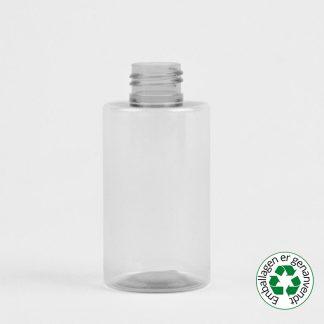 Flaske 125ml klar 24/410 R-pet sharp cylindrical