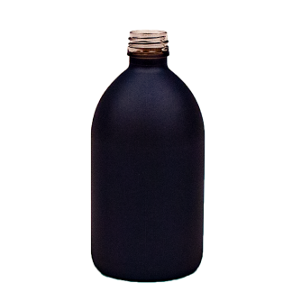 Flaske 500ml sirup coated blå / 28/410